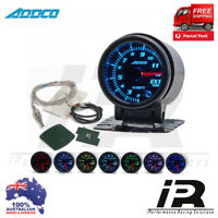 "52mm Exhaust EGT Temp Temprature Gauge 2"" ADDCO Smoked Face 7 Colour + Sensors"