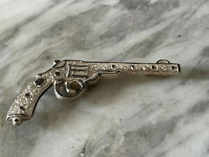 Antik 84 Zolotniki Silber Pistole / Dekoration Objekt für Gürtel, Russland