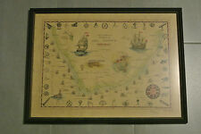 Seekarte v. Kap der Guten Hoffnung Schiffswracks Kapstadt Süd Afrika eingerahmt.