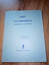 PARTITION LISZT LA CAMPANELLA POUR PIANO EDITO MUSICA BUDAPEST