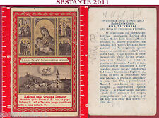 1693 SANTINO HOLY CARD MADONNA DELLE GRAZIE A TERSATTO PAPA URBANO V PIEGHE