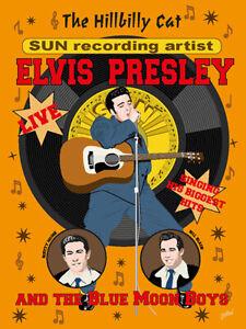 Elvis Presley - Fifties style poster - (signed) Art Print - Jarod Art