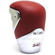 RAZO RA96RE GT Advance Short Shift Knob Red Leather Type 340g Heavy Weighted JDM