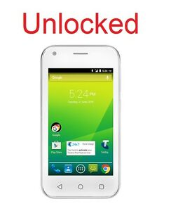 ZTE 4GX Smart A112 4G Quad Core White Unlocked  Android 6.0 *RARE