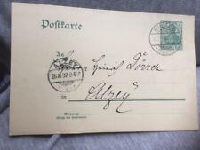Postcard 🇩🇪 Germany Bingen to Alzey 1902 Germania Postal Stationery Card