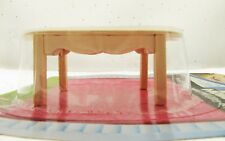 Doll House Furniture Miniature wooden dining room table diningroom