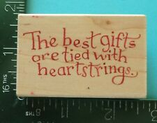 The Best Gifts Are Tied With Heartstrings Rubber Stamp by All Night Media