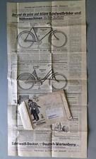 EDELWEIß Fahrrad Reklameblatt im Originalumschlag 14.11.36 gelaufen