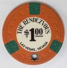 1954 Rendezvous $1 1st Edition Casino Chip Las Vegas, NV