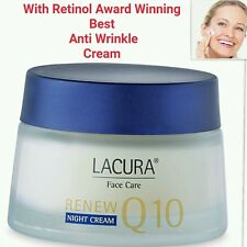 Anti-Wrinkle Cream With RETINOL **Award winning** Q10 50ml LACURA Night Cream