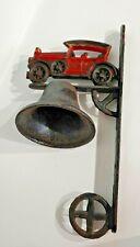 "Vintage Outdoor Cast Iron Bell Antique Car 12"""