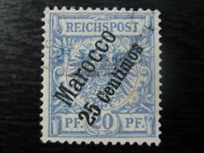 MOROCCO GERMAN OFFICES COLONY Mi. #4 scarce used stamp! CV $22.75