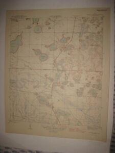 ANTIQUE 1945 CRYSTAL LAKE BAY WASHINGTON COUNTY FLORIDA TOPOGRAPHIC MAP DETAILED