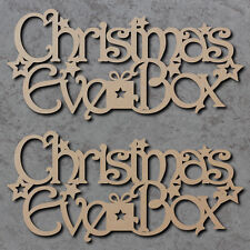 Christmas Eve Box Topper 01 x2 - Wooden Christmas Craft Blanks and Signs