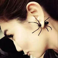1 PC Punk Halloween Black Spider Ear Stud Earrings Club Bar Gift For Party