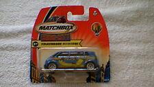 Matchbox - 1-75 Hero City (UK Card) - #57 Volkswagen Microbus - Met. Dark Blue