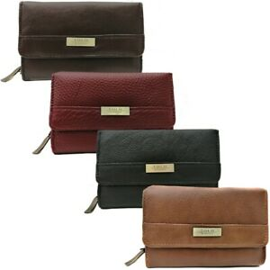 Women's Real Leather Purse Ladies Coin Card Holder Zip Around Soft Wallet Bag