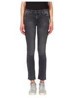 BLACK ORCHID Bardot Straight Fray Eyelet Detail Skinny Jeans Grey 26 $216 #497