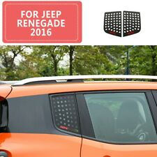 Car Triangular Window Glass Decor Cover Trim for Jeep Renegade 2016+ Accessories