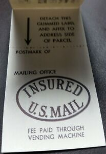 #QI3 Domestic Parcel Post Insurance 40c Complete Booklet; No Faults CV $15.00