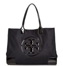 TORY BURCH ELLA Large Patent Tote Nylon Black Glossy Patent Leather # 52740 $198