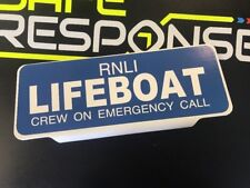 RNLI LIFEBOAT crew on Emergency Call with WHITE Text univisor Sign Sun visor