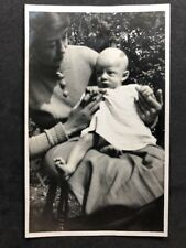 Vintage Real Photo Postcard: People #B275: Woman With Thin Child On Lap: Jerome