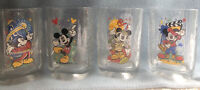 Walt Disney World McDonald's Mickey Mouse 2000 Celebration Set of Four Glasses