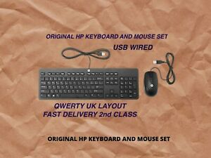 HP KEYBOARD AND MOUSE SET,USB WIRED QWERTY UK LAYOUT, FAST & FREE DELIVERY