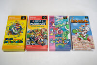 Mario World & Kart & Yoshi's Island 4games Nintendo Super Famicom SNES Japan