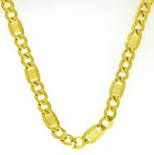 Halskette Für Damen U. Herren 585 Gold Panzer Kette mit Plättchen 14 Kt 50 cm
