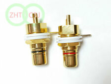 20pcs brass RCA Female Phono Jack Panel Mount Chassis Connector
