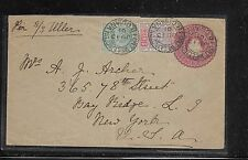 BRITISH GUIANA (P1201BB) 1901 2C SHIP PSE UPRATED SHIP 1C+2C TO USA