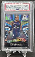 2017 Topps Chrome UEFA Kylian Mbappe Future Stars Refractor PSA 10 Low Pop!🔥🔥