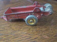 Dinky #27c - Massey Harris Manure Spreader Red