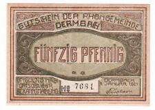 Dermbach 50 Pf. 01.01.1921 Wz. dunkle Kreuze Ktr.-Nr. 3,5 mm gedruckt Grab. 264.
