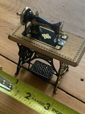 doll house miniature  antique penning sewing machine germany working parts
