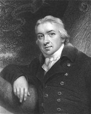 Father of Immunology Smallpox Vaccine EDWARD JENNER ~ 1835 Art Print Engraving