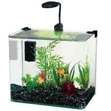 Penn Plax Curved Corner Glass Aquarium Kit