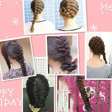 Trendy Black Womens Hair Styling Clip Stick Bun Maker Braid Tool Accessories DIY