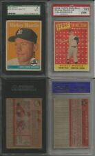 1958 Topps Baseball Card set/lot 273/495 Mickey Mantle #150 & #487 SGC HOF Mays