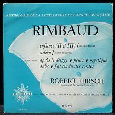 Rimbaud Robert Hirsch Enfance... Lumen LDI 275 17 cm / 10'' LP & CV EX