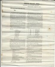 1861 AG's Office State of Indiana Broadside on Recruiting 6 Regiments of 3 Mos