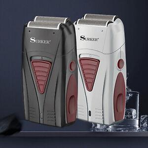 SURKER Mens Electric Shaver Cordless Dual Foil Comfort Cut Razor USB Charging