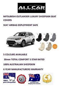 Sheepskin Car Seatcovers for Mitsubishi Outlander, Seat Airbag Safe, .30mm TC