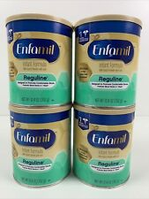 (4) ENFAMIL Reguline Infant Baby Formula W/Iron Powder Size 12.4oz Exp 02/2022