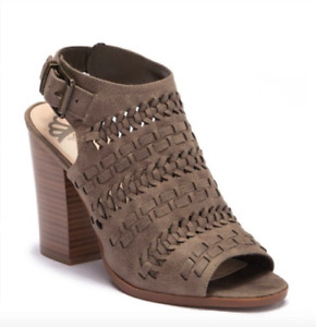 Fergalicious Braided Open Toe Sandal Bootie Shoe Brown Size 9