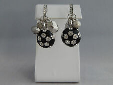 Soccer Charm Hoop Earrings - Crystals Sports Mom Fashion Jewelry