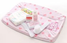 Casdon Dolls Baby Changing Mat Set Nappy Sudocrem Babywipes Brush Comb Play Game