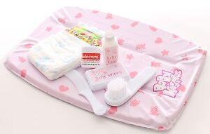 Casdon Dolls Baby Changing Mat Set Nappy Sudocrem Babywipes Brush Comb Play Game